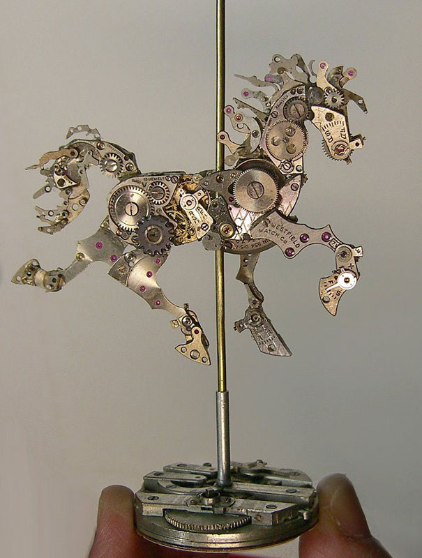 sculptures made from old watch parts sue beatrice (15)