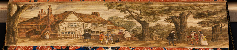 the inn at edmonton milton fore edge book painting 40 Hidden Artworks Painted on the Edges of Books