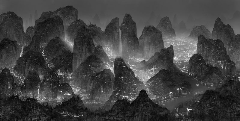 traditional chinese landscape paintings and modernized chinese cities yang yongliang (1)