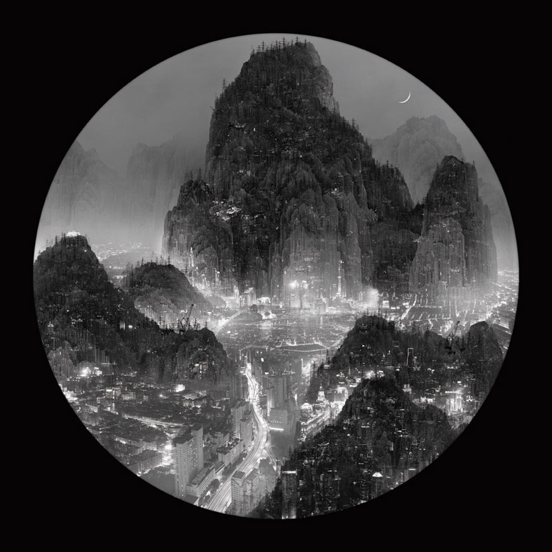 traditional chinese landscape paintings and modernized chinese cities yang yongliang (10)