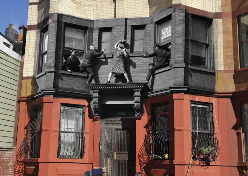 vintage photos of new york superimposed onto present day pics marc hermann 4 Surreal Portraits Blended Into Landscape Photos