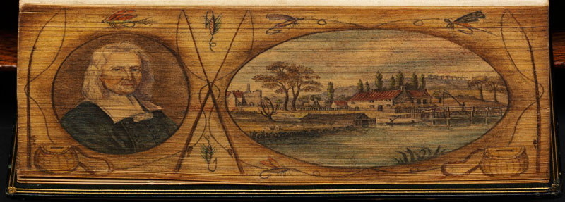 walton portrait fore edge book painting 40 Hidden Artworks Painted on the Edges of Books