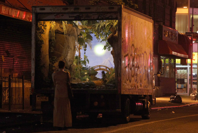 banksy truck new york city 2013 Picture of the Day: Banksy Converts a New York Delivery Truck
