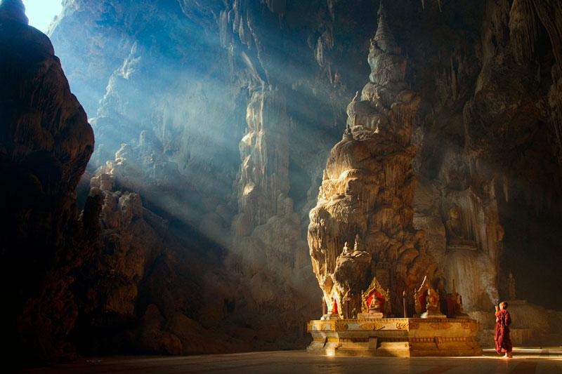 Buddha Temple Datdawtaung Cave kyaukse mandalay myanmar lin tun