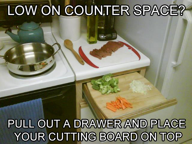 create more counter space life hack 40 Clever Life Hacks to Simplify your World
