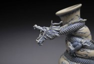 Johnson Tsang Sculpts a Dragon Strangling a Porcelain Vase