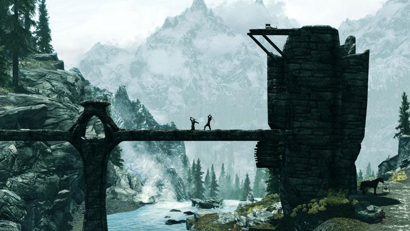 elder scrolls v skyrim theblades 40 Cinematic Landscape Stills from Video Games