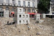 Isaac Cordal's Miniature City in Ruins Installation in Nantes, France