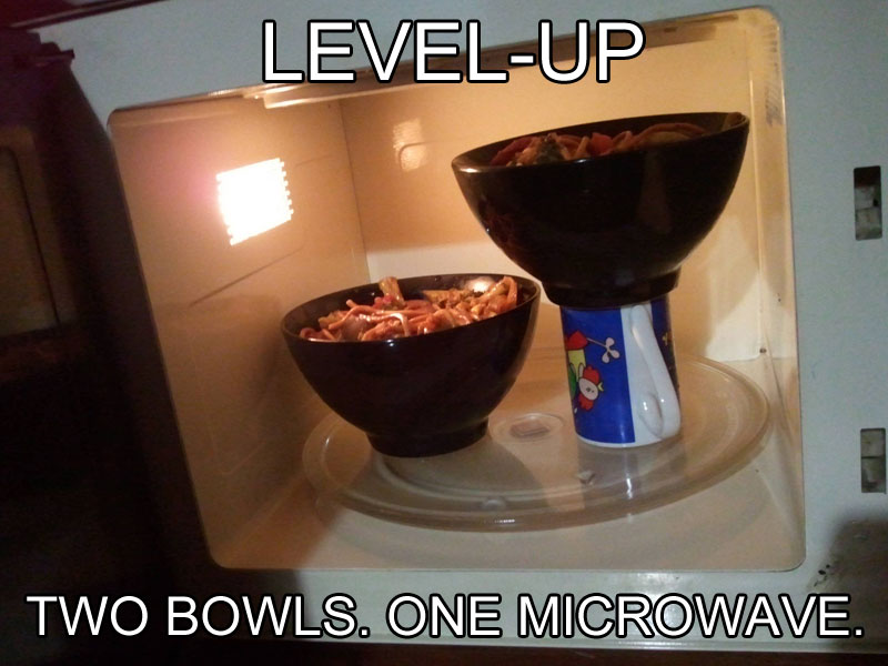 how to fit two bowls into microwave life hack 50 Life Hacks to Simplify your World