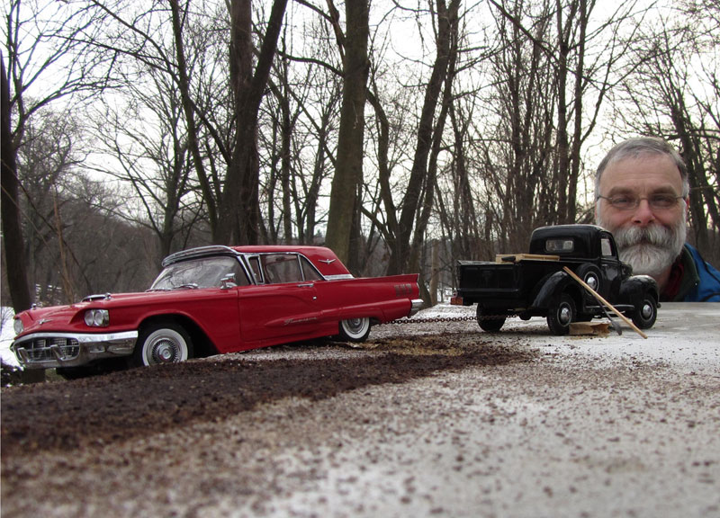 Recreating the Past with Model Cars and Forced Perspective