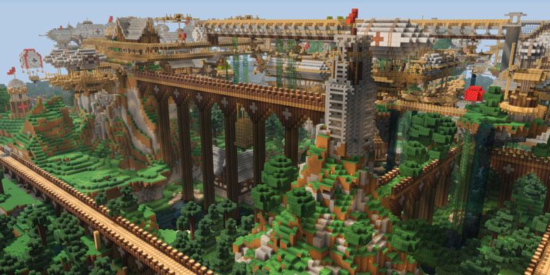 minecraft dockland 40 Cinematic Landscape Stills from Video Games