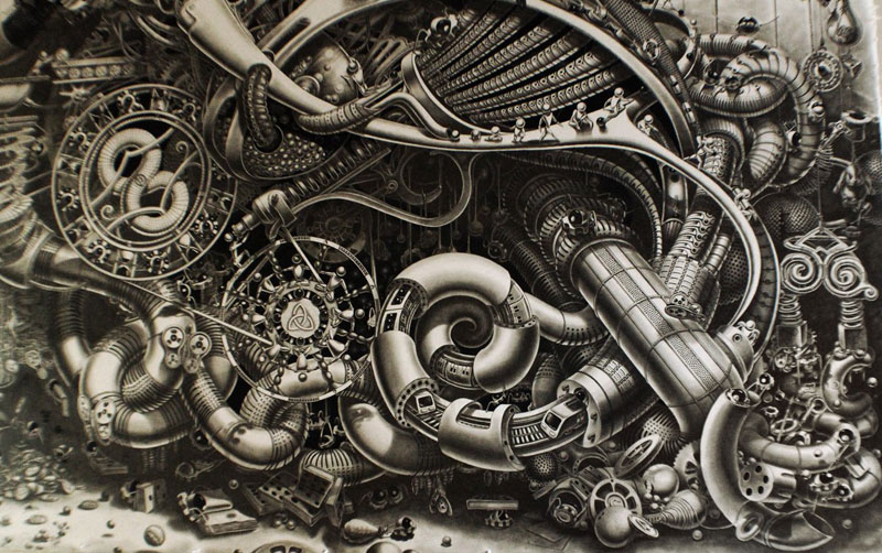 Samuel Gomez Draws a 90-Square-Foot Masterpiece
