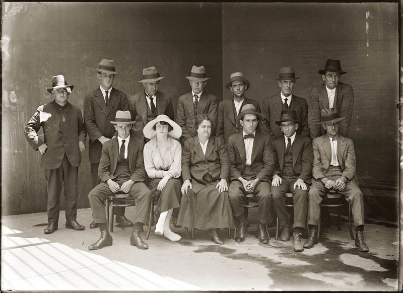 vintage candid mugshots of dapper criminals 1920s 1 One Couples Christmas Card Portraits from 1900   1942