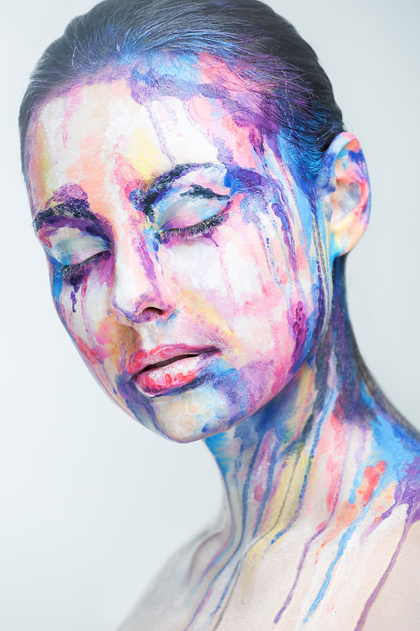 2D Portraits Painted Onto Human Faces (6)