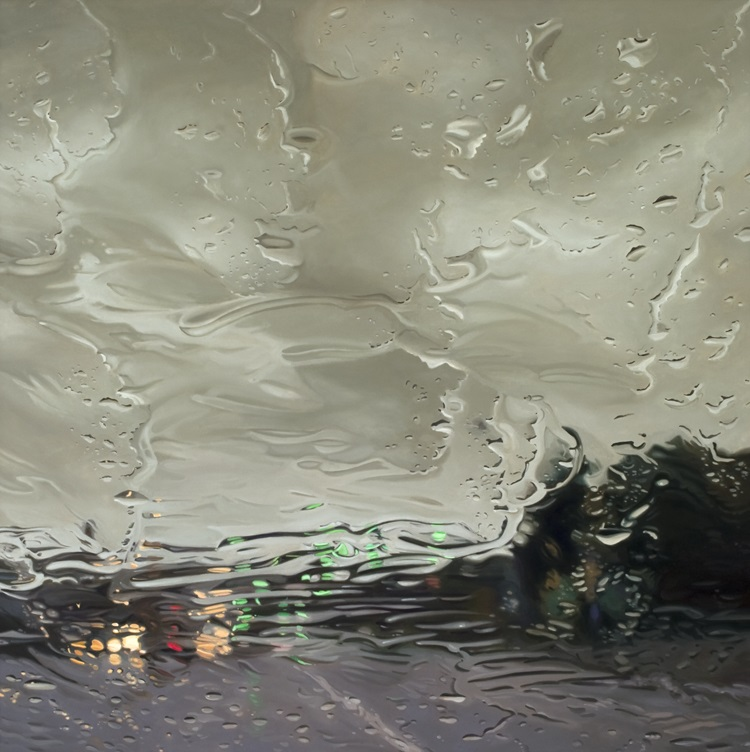 AboveBelow by Gregory Thielker oil painting through car windshield