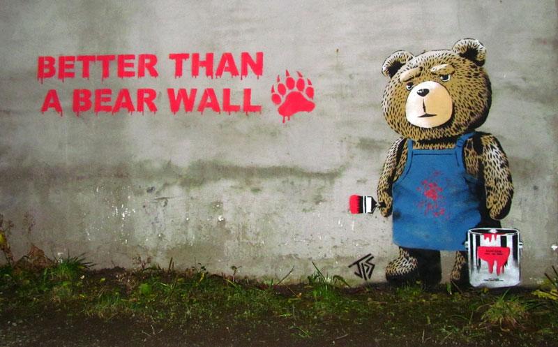 better than a bear wall street art jps Picture of the Day: Better Than a Bear Wall