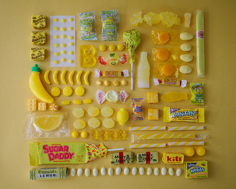 Color-Coded Objects Organized Neatly