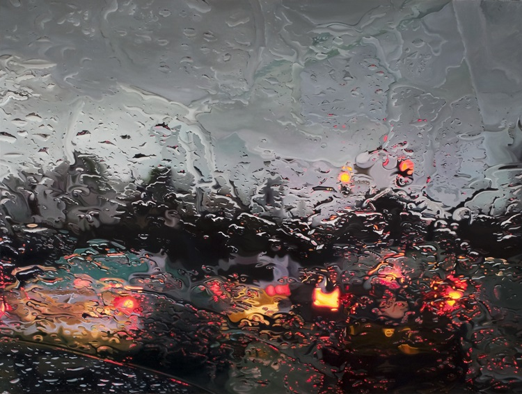 completestop by gregory thielker oil painting through car windshield Paintings within Paintings by Neil Simone