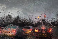 Hyperrealistic Oil Paintings Looking Through Rainy Windshields
