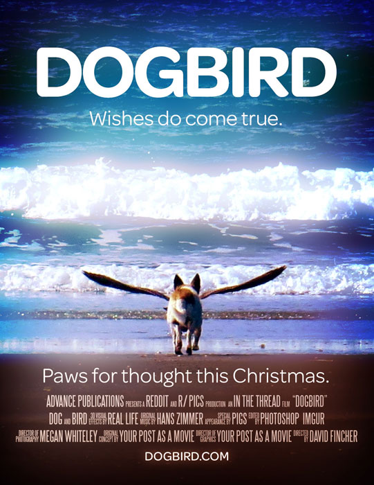 dogbird movie poster1 Picture of the Day: Perfectly Timed Dogbird