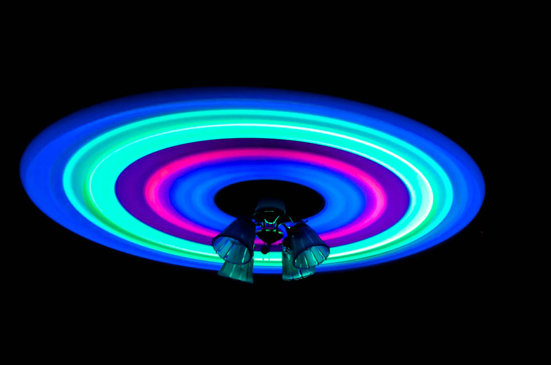 glowsticks and a ceiling fan long exposure photograph The Top 100 Pictures of the Day for 2013