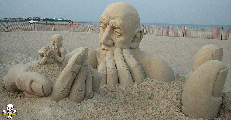 infinity sand sculpture by carl jara grain damaged If Frank Gehry Made Sand Castles (10 Photos)