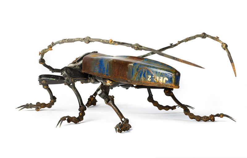 insects and animals made from scrap metal and bike parts edouard martinet (11)