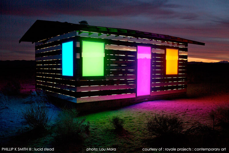 lucid stead by phillip k smith III transparent cabin wood and glass joshua tree national park (12)