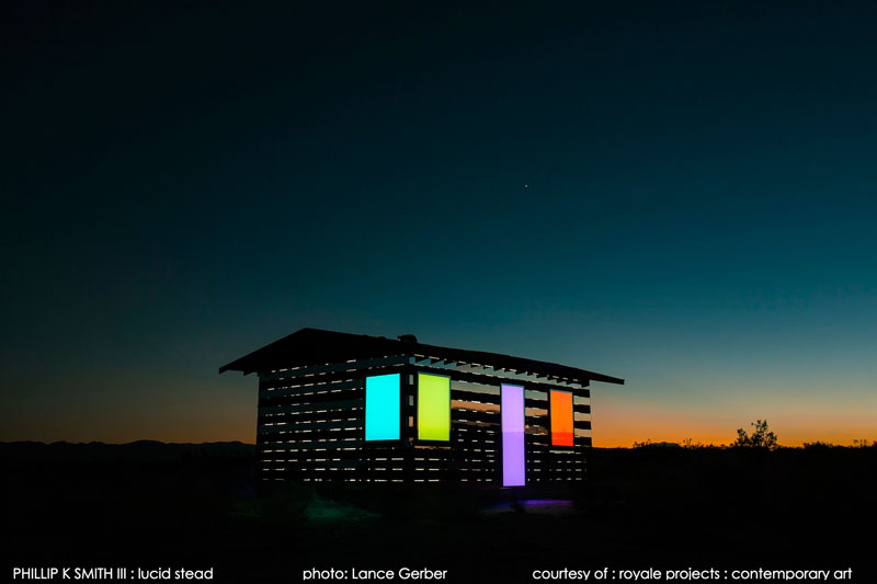 lucid stead by phillip k smith III transparent cabin wood and glass joshua tree national park (13)