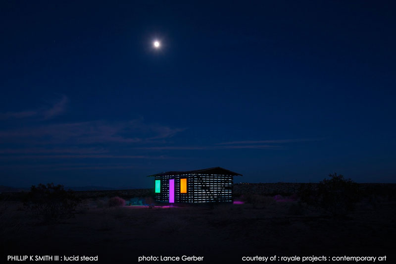 lucid stead by phillip k smith III transparent cabin wood and glass joshua tree national park (14)