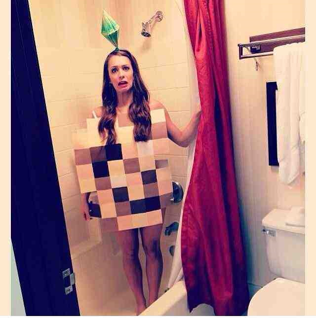 pixelated nudity halloween costume