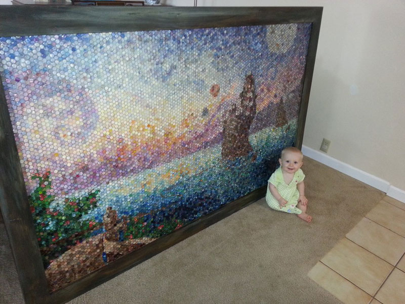 Artistic Mom Makes Amazing Mosaic with 10,000 'Dots' of Play-Doh