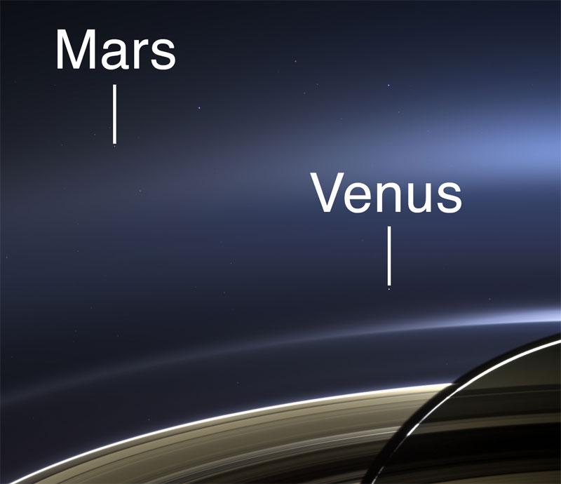 saturn mars and venus in one shot close up nasa