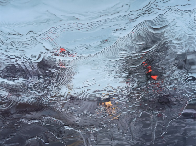 UntilNow by Gregory Thielker oil painting through car windshield
