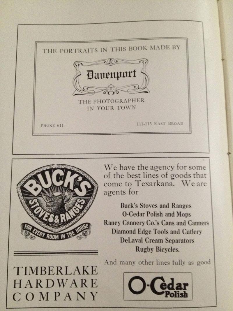 100 year old high school yearbook 1912-1913 texarkana  (36)