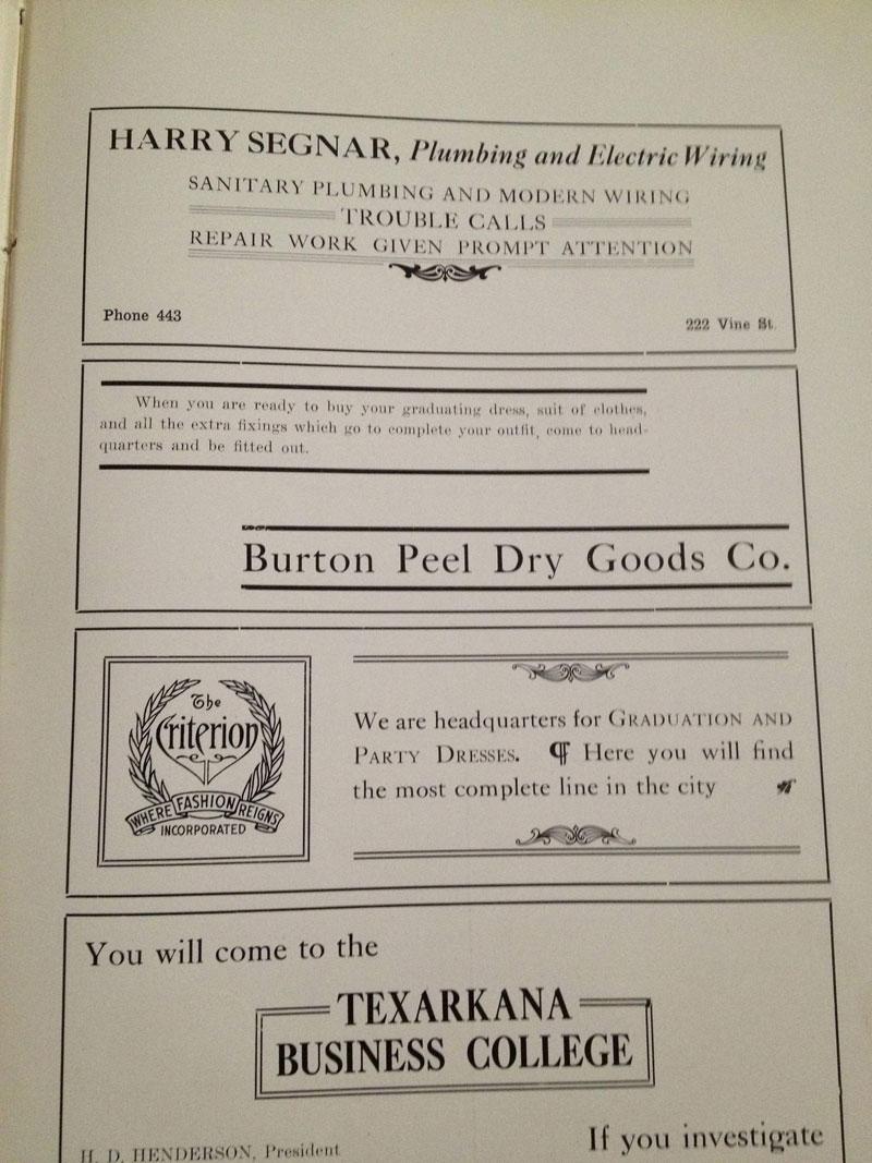 100 year old high school yearbook 1912-1913 texarkana  (37)