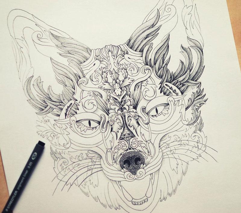 Alex Konahin ink illustrations (11)