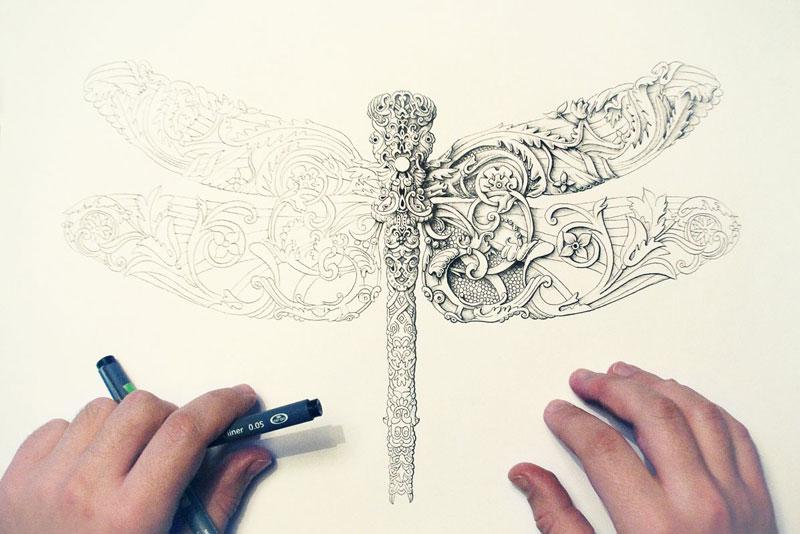 Alex Konahin ink illustrations (12)