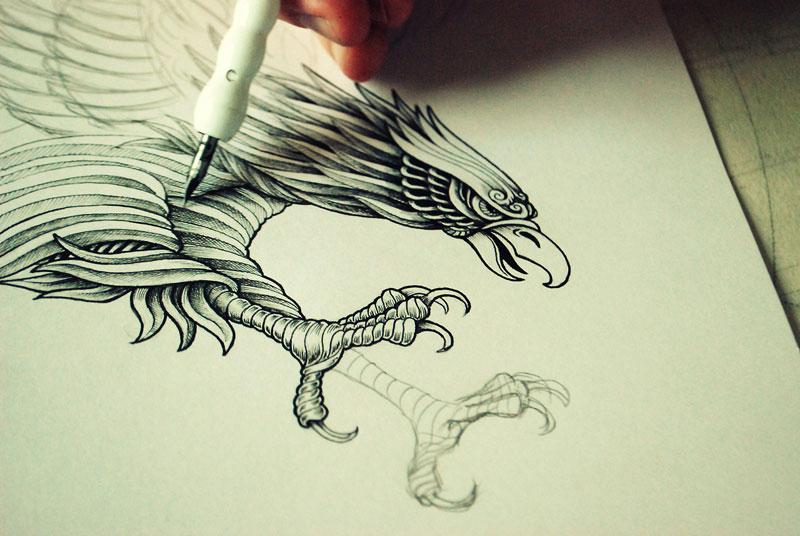 Alex Konahin ink illustrations (6)