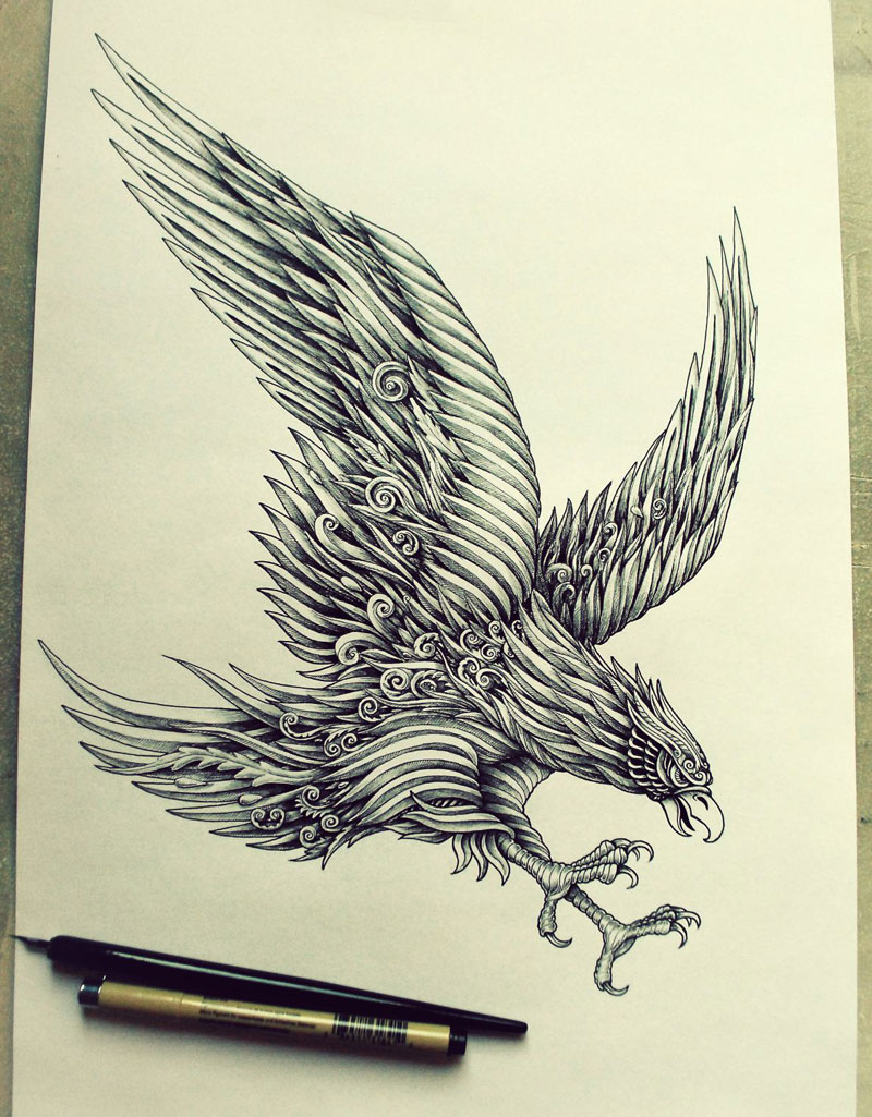 Alex Konahin ink illustrations (7)