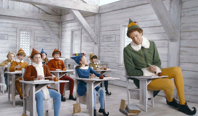 buddy elf will ferrell in tiny desk 10 Things You Never Knew about 10 Famous Christmas Movies