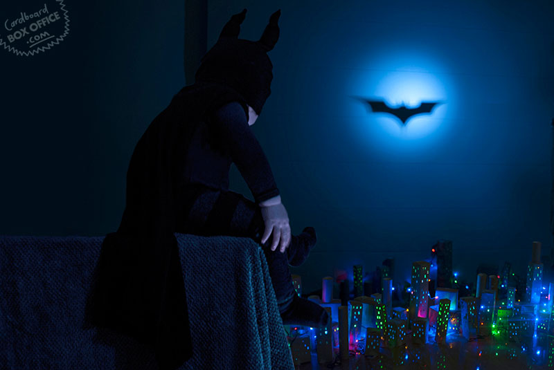 dark_knight Parents Recreate Movie Scenes with baby Son and cardboard