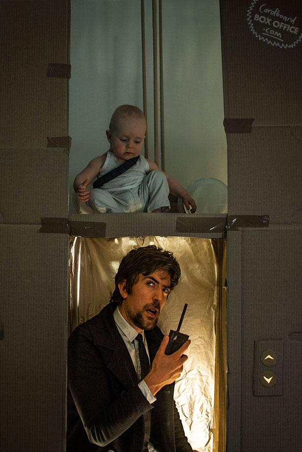 diehard Parents Recreate Movie Scenes with baby Son and cardboard