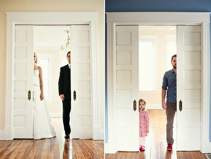 father and daugher recreate wedding photos of late mother wife tracy pace loft3 1 Artists Battle with Alzheimers Documented Through Gripping Self Portraits