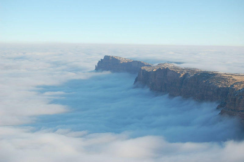 grand canyon filled with fog november thanksgiving 2013 (1)