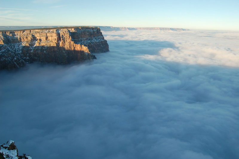 grand canyon filled with fog november thanksgiving 2013 (2)