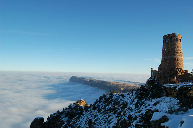 grand canyon filled with fog november thanksgiving 2013 (5)