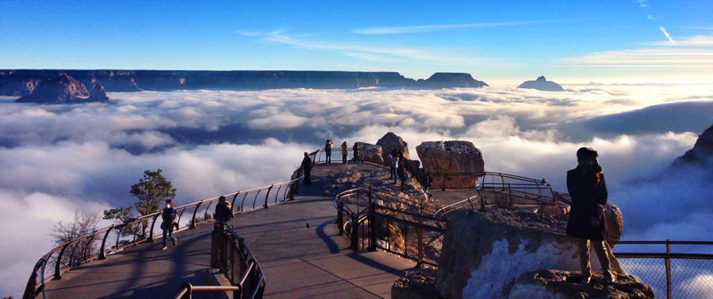 grand canyon filled with fog november thanksgiving 2013 erin whittaker (2)