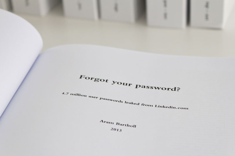 leaked linkedin passwords printed  in 8 800 page books aram bartholl (7)