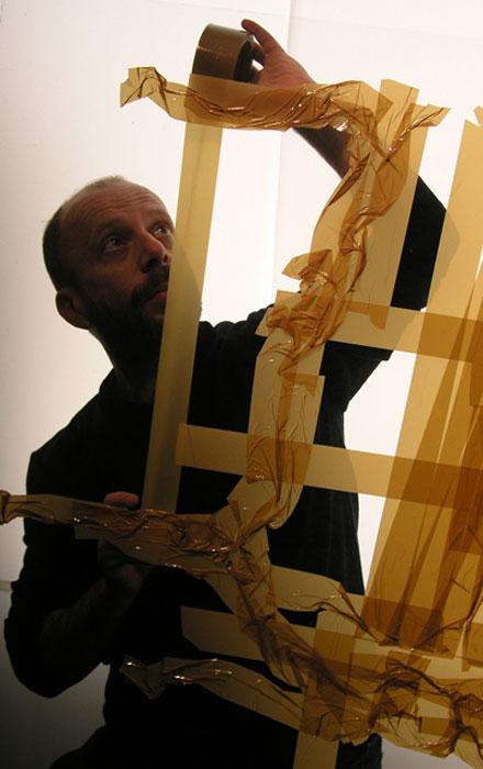 mark khaisman artist packaging tape portraits1 Mark Khaisman Makes Art with Everyday Packing Tape